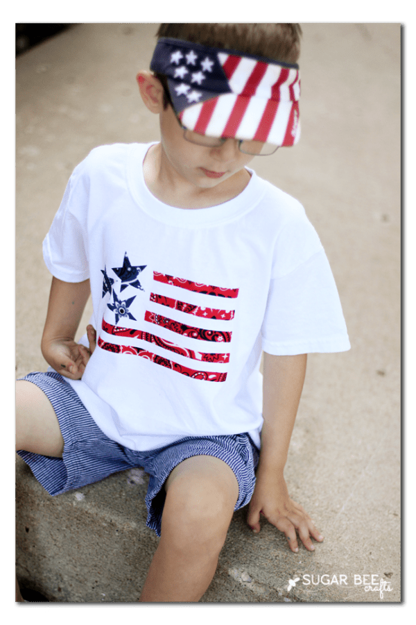 Bandana Flag Shirt by Sugar Bee Crafts