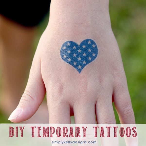 More DIY Patriotic Temporary Tattoos from Simply Kelly Designs