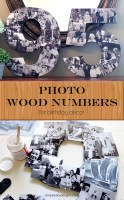 Mod Podge Photo Wood Numbers for Birthday Decor