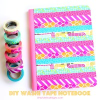 Vibrant DIY Washi Tape Composition Book