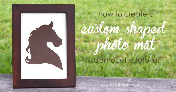 Save money by creating your own custom shaped photo mat. Full tutorial from Simply Kelly Designs.