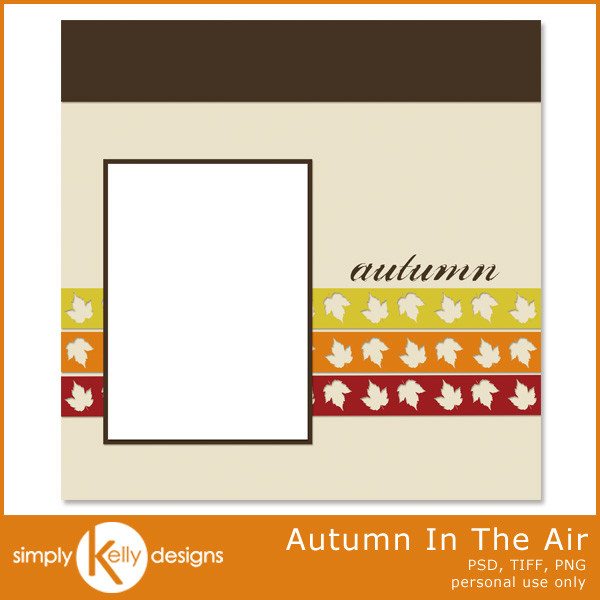 Autumn In The Air Digital Scrapbook Template by Simply Kelly Designs
