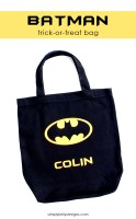 DIY Personalized Batman Trick-Or-Treat Bag