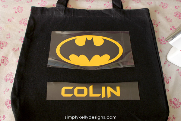Make a personalized Batman trick-or-treat bag for your little Batman! #Silhouette #Halloween