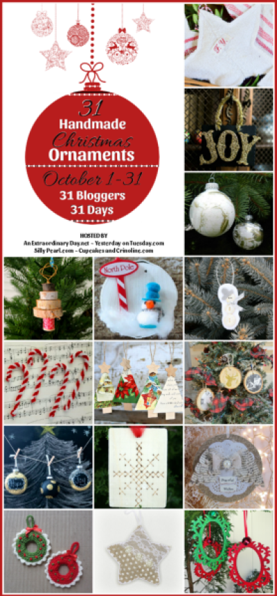 31 Day of Handmade Christmas Ornaments 1-15