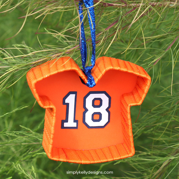 Create a DIY football jersey ornament to show your love for your favorite team