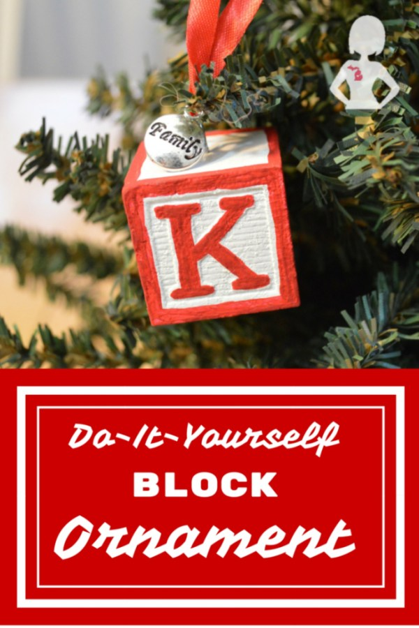 DIY Block Ornament by Mid Michigan Mom