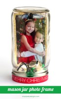 Christmas Mason Jar Photo Frame