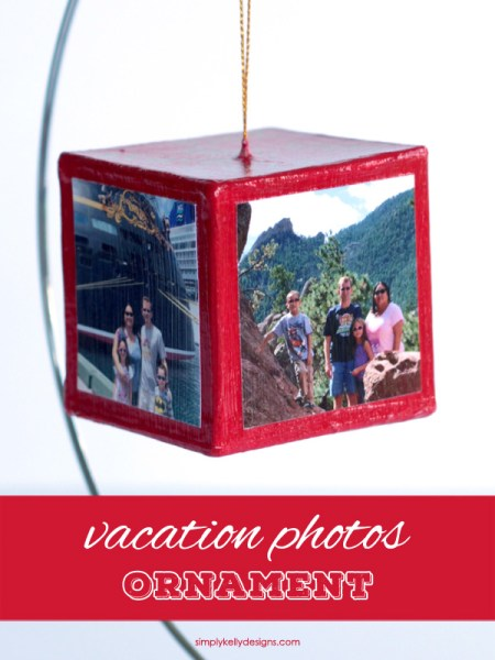 Create this vacation photos ornament to re-live all your vacation memories every time you decorate your Christmas tree!