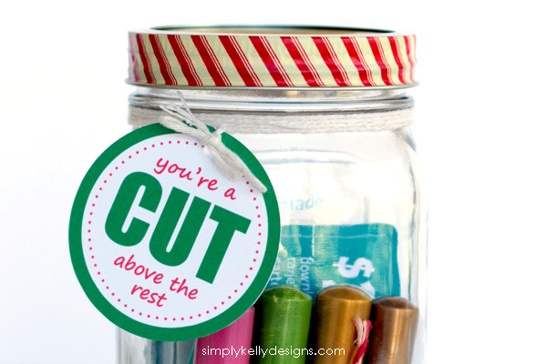 You're A Cut Above The Rest printable gift tag for the Silhouette obsessed