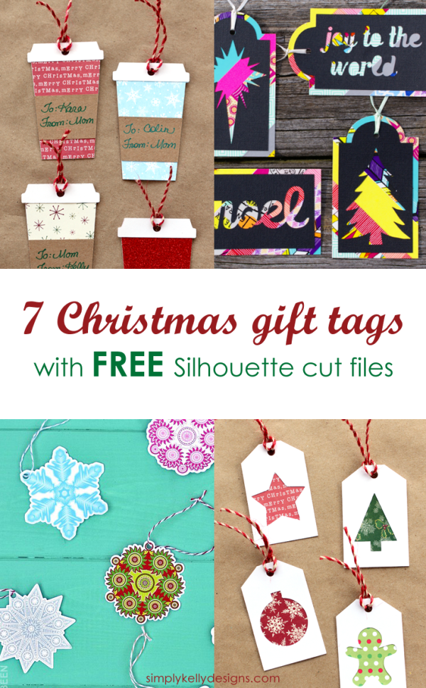 These 7 unique Christmas gift tags with free cut files will make your Christmas gift wrapping easy this year!