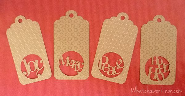 Quartet of Christmas Gift Tags by Whatcha Workin' On