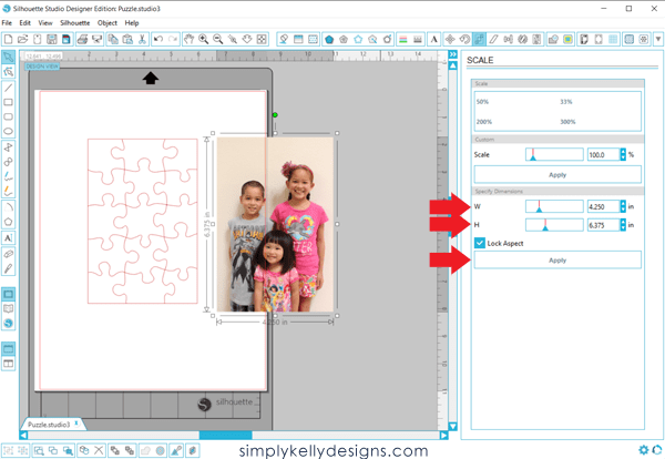 Learn how to quickly create a photo puzzle using the Silhouette