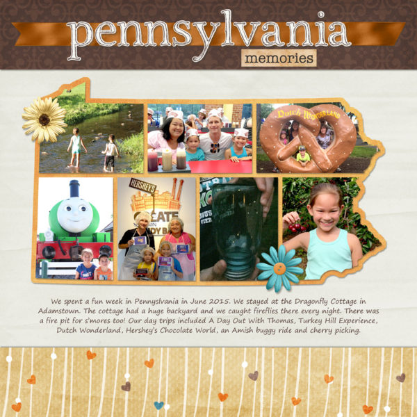 50 States - Pennsylvania Template by Simply Kelly Designs | Memories by Sweet Shoppe Designs