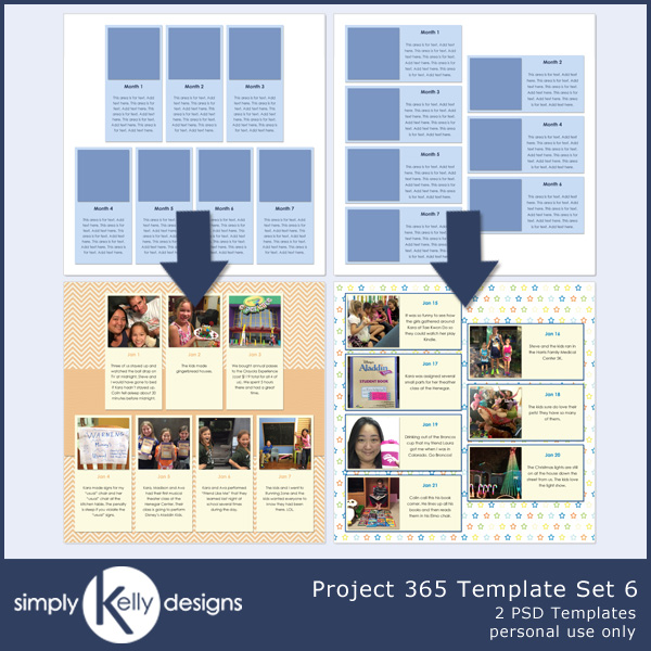 Project 365 Template Set 5 by Simply Kelly Designs