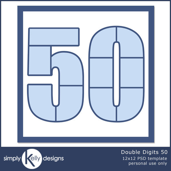 Double Digits 50 by Simply Kelly Designs