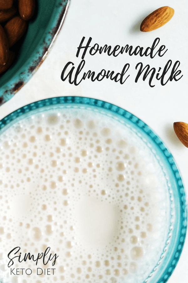 Try this homemade almond milk recipe for your keto diet. It's low carb!