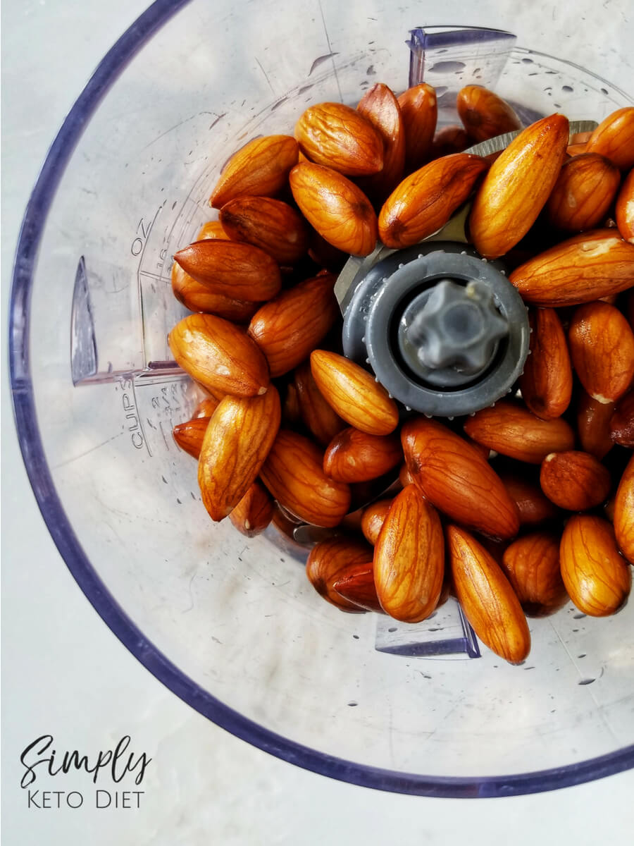 Use a blender or food processor to chop your almonds into small pieces