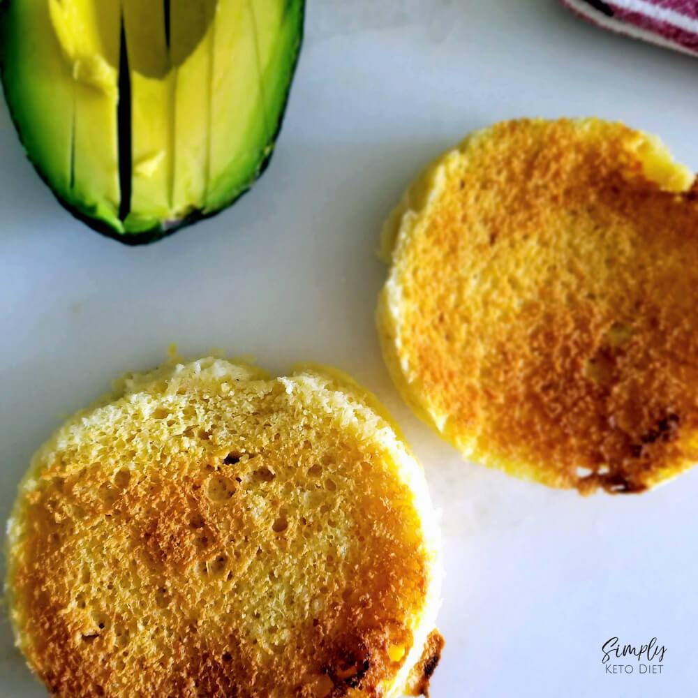 Perfect 90 Second Keto Bread with Avocado