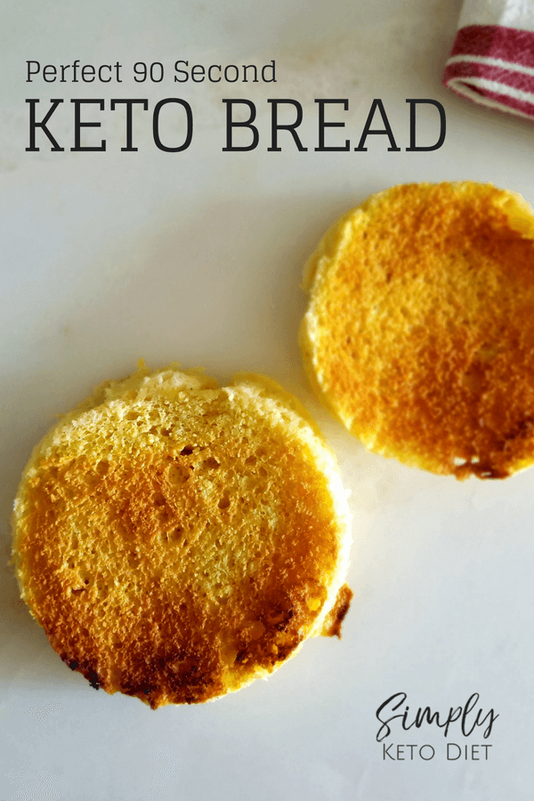 Perfect 90 Second Keto Bread - easy to make and tastes so yummy!