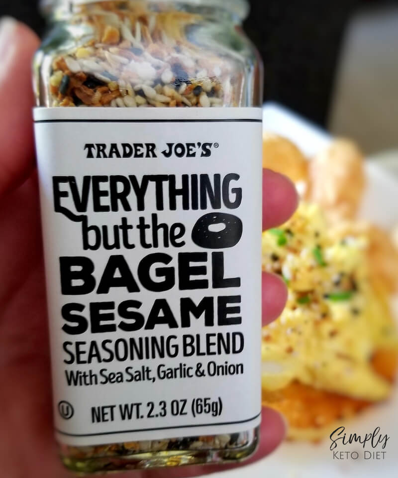 Keto Egg Salad is perfect with Everything But The Bagel Sesame Seasoning!