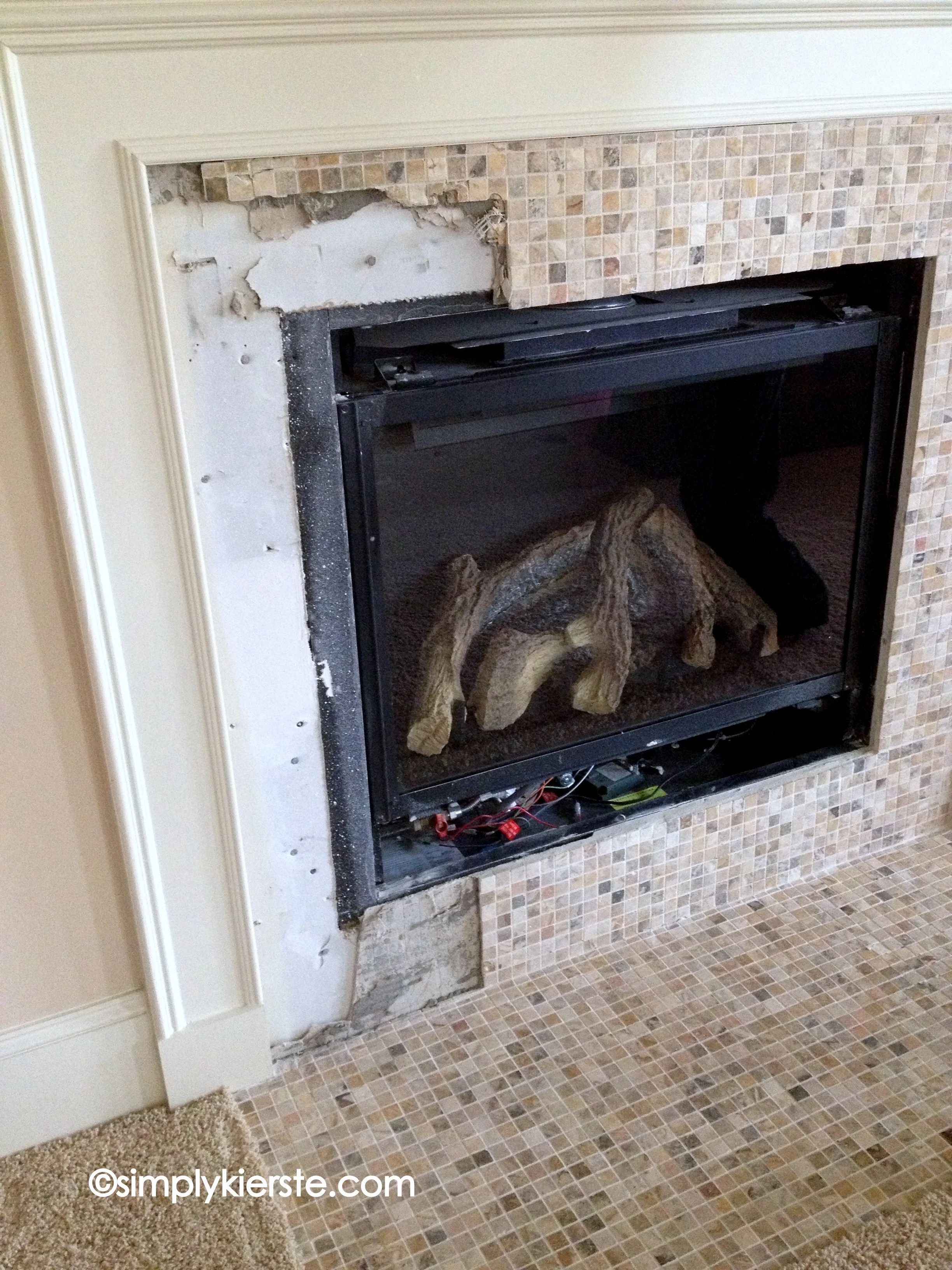 Fireplace Makeover Using Airstone