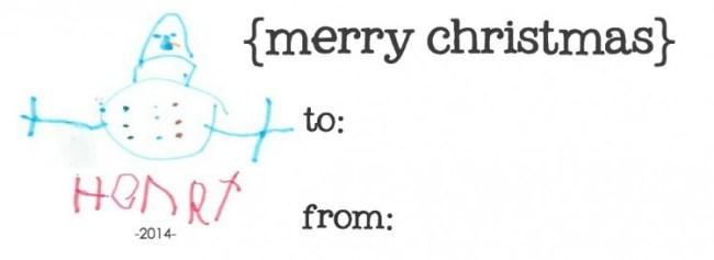 Children's Art Christmas Gift Tags | simplykierste.com