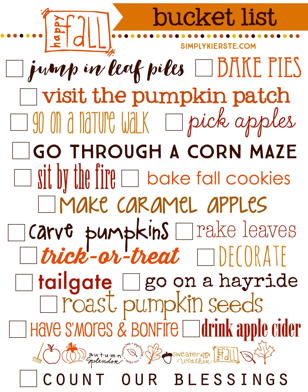 Fall Bucket List 19 Ways To Celebrate Autumn