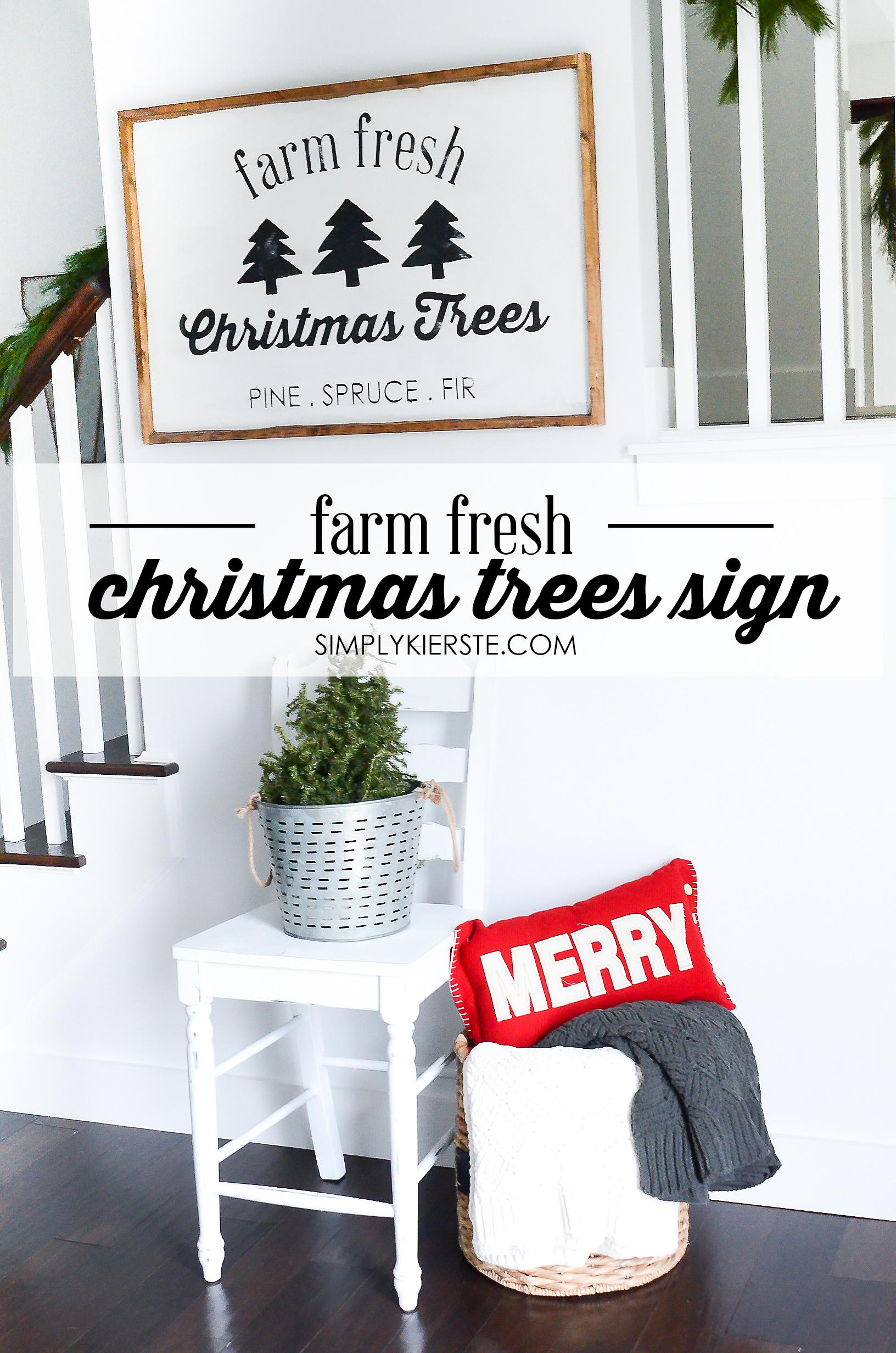 Farm Fresh Christmas Trees Sign Free Cut File Simply