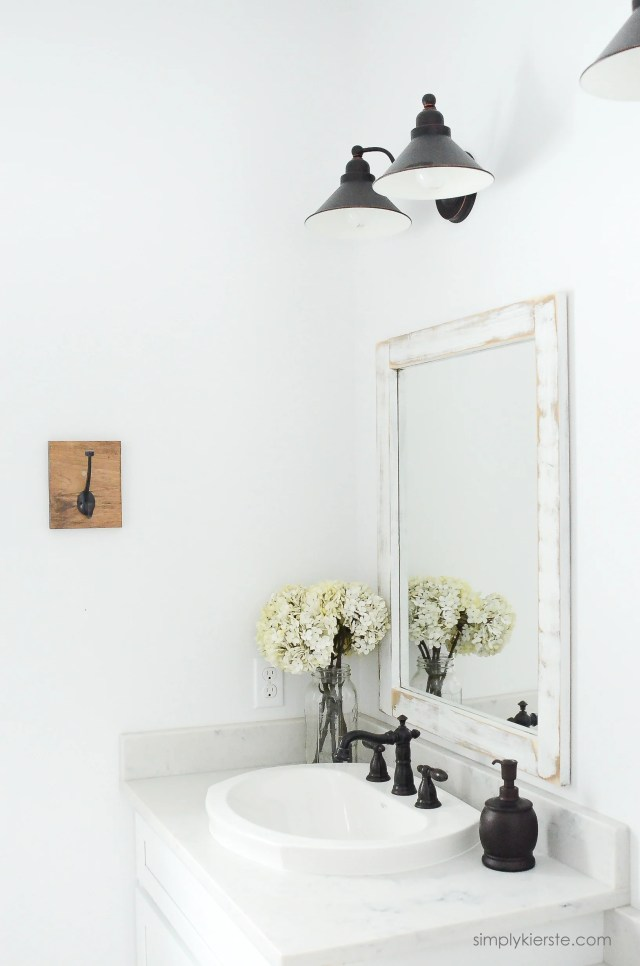 Farmhouse Bathroom DIY Framed Mirrors Simply Kierste Design Co