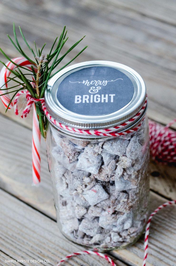 Mason Jar Christmas Gift Idea Amp Chalkboard Printable