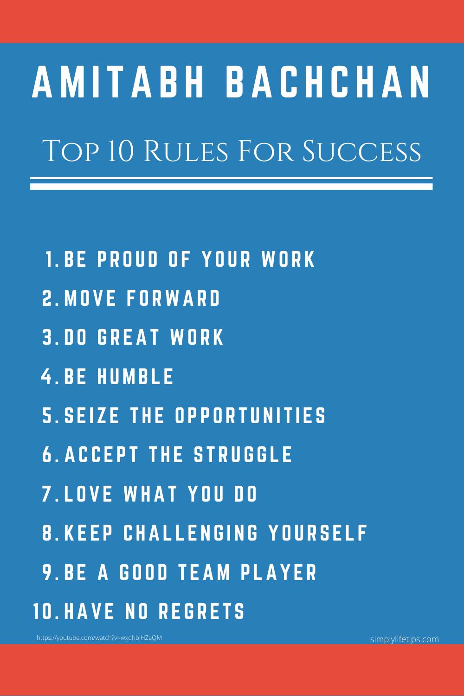 Amitabh Bachchan Success Rules