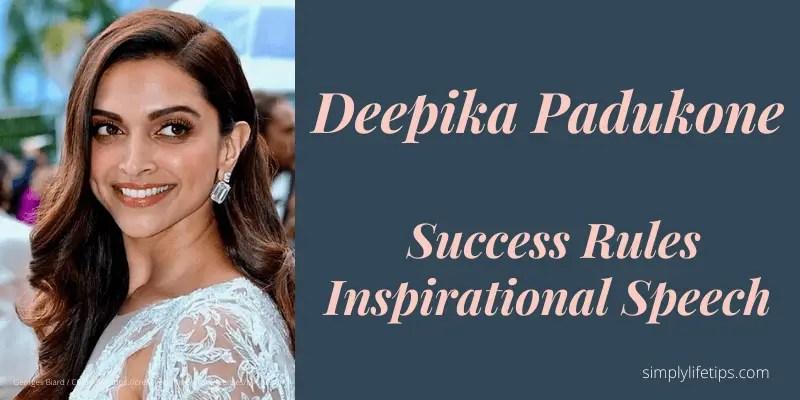 Deepika Padukone Inspirational Speech Success Rules