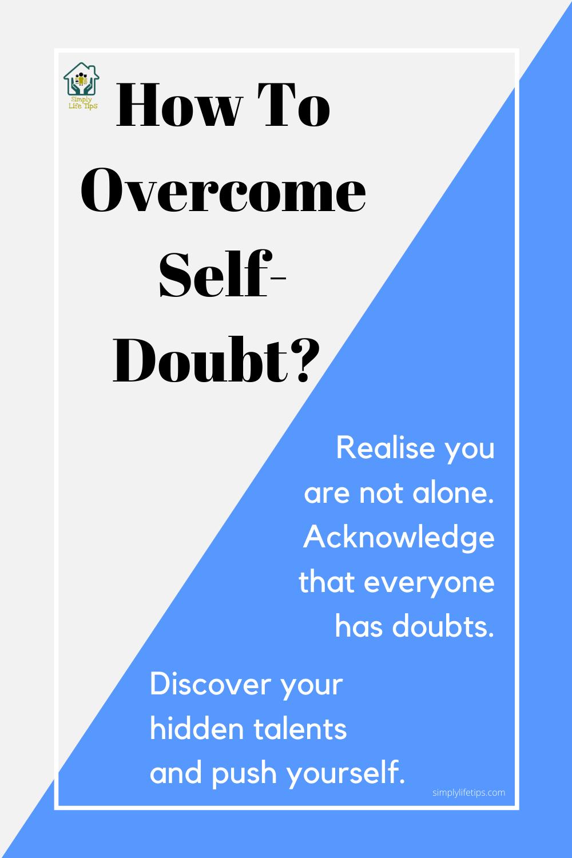Tips To Overcome Self-Doubt