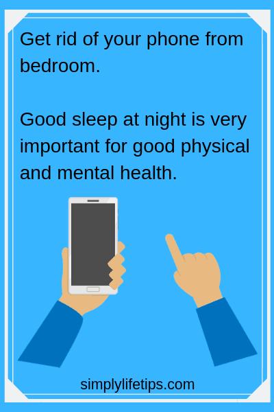 Mobile phone in bedroom