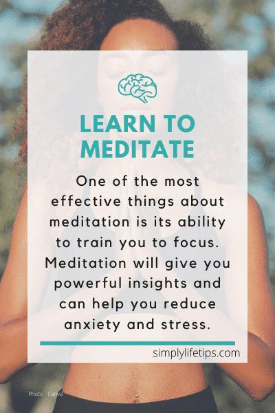 meditation benefits covid19