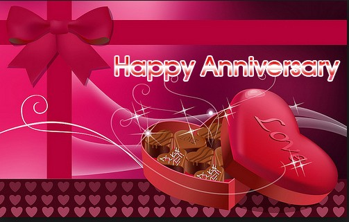 Chocolate Happy Anniversary Gift Wedding Greetings Card