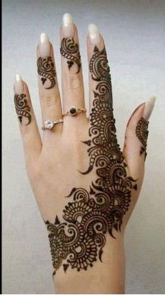 one finger design arabian mehndi