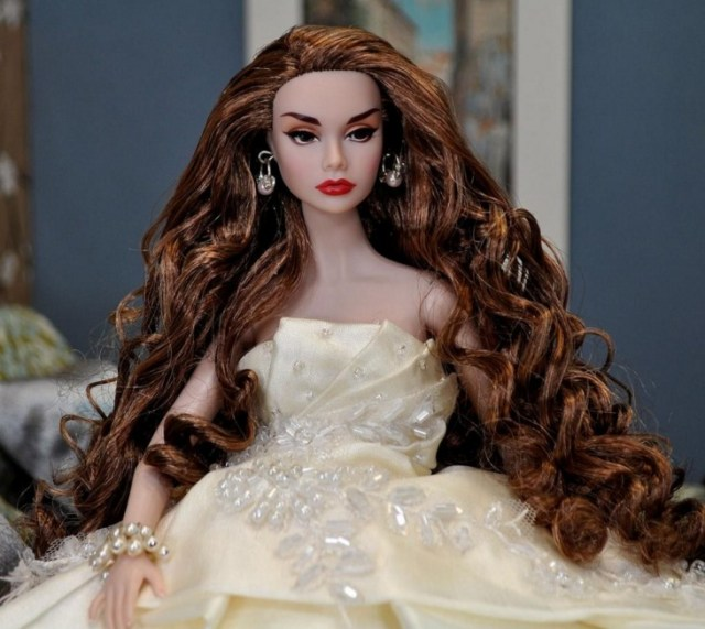 barbie doll image for hd wallpaper in pearl dress