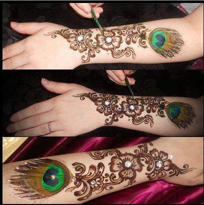 peacock style mehndi design