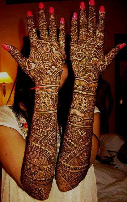 Mehndi Designs Upper Hands : Top bridal mehndi designs for full hands front and back