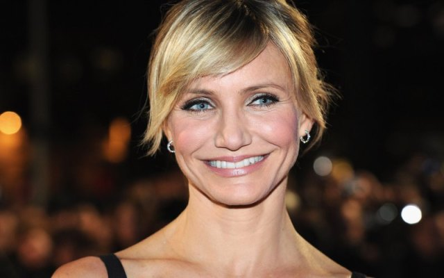 new haircut of the cameron diaz with out makeup