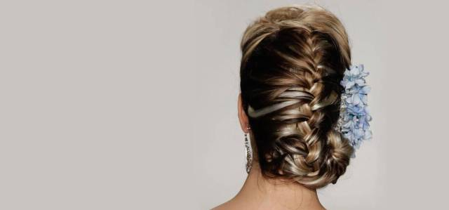 back braided hairstyle