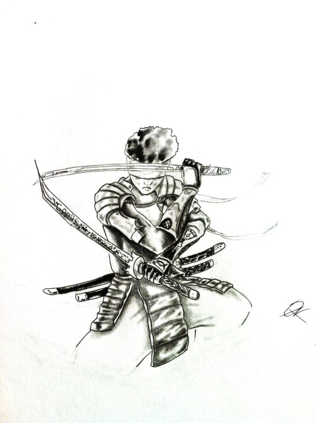Blind Samurai Warrior Tattoo
