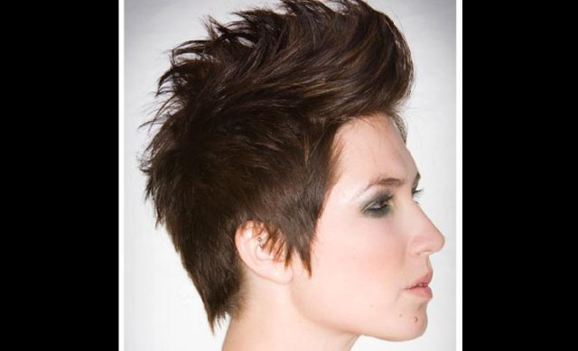 brown spike emo hairstyle