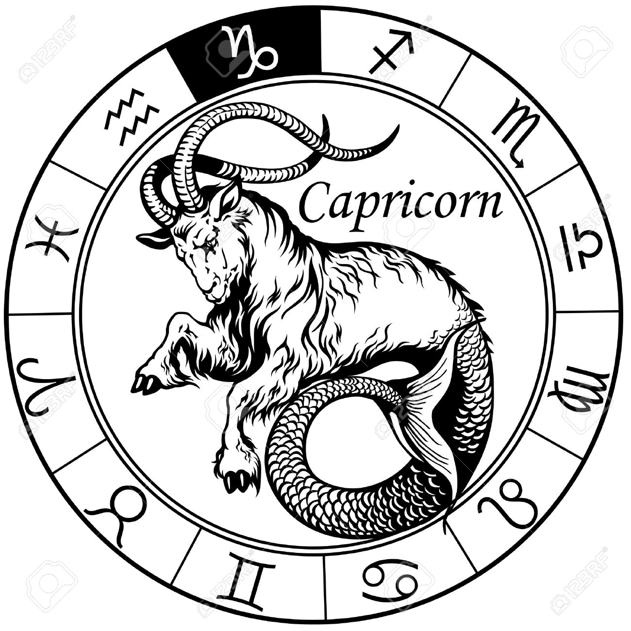 50 best capricorn tattoo designs with meanings for men women for Tattoo horoscope signs
