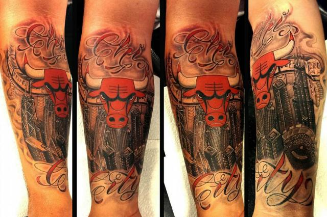 unique bull tattoo design