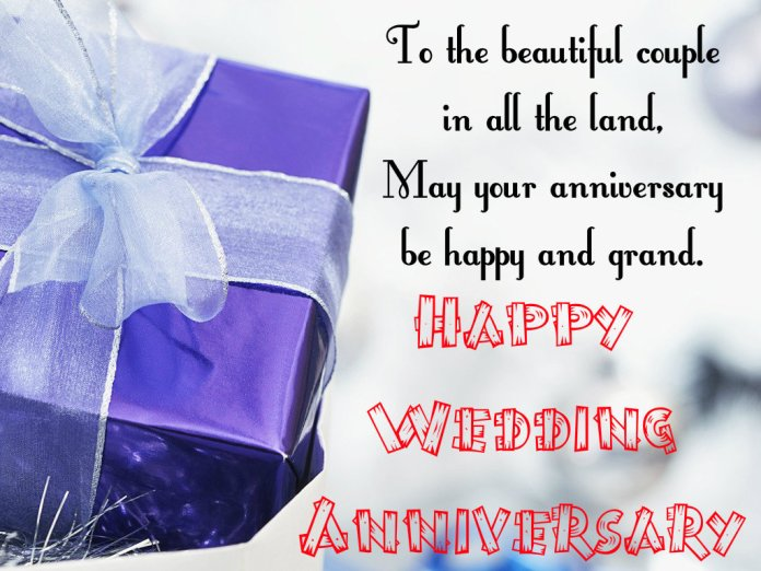 wedding anniversary gift with quote