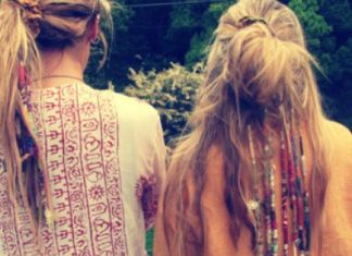 hippie hairstyle for length of the hairs