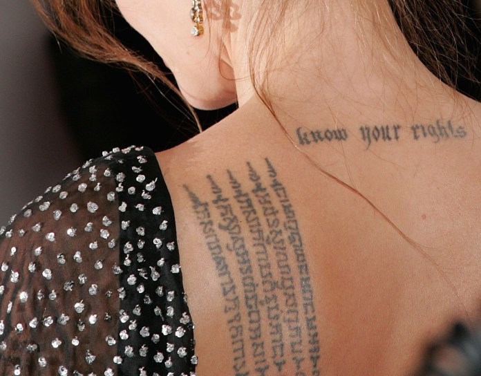 stylish poem arabic tattoo